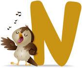 N for Nightingale — Stock Photo