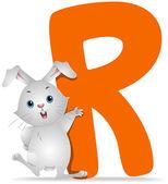 R for Rabbit — Stock Photo