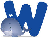 W for Whale — Stock Photo
