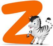 Zebra için z — Stok fotoğraf