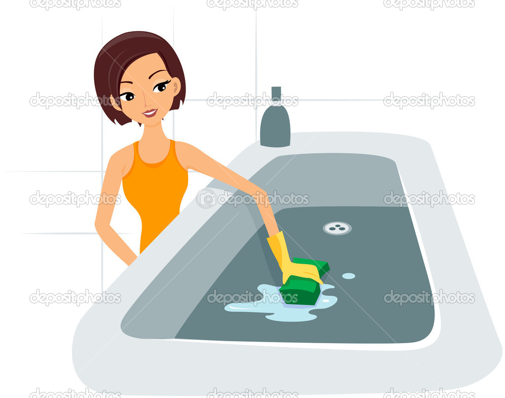 how to clean calcium deposits from bathtub