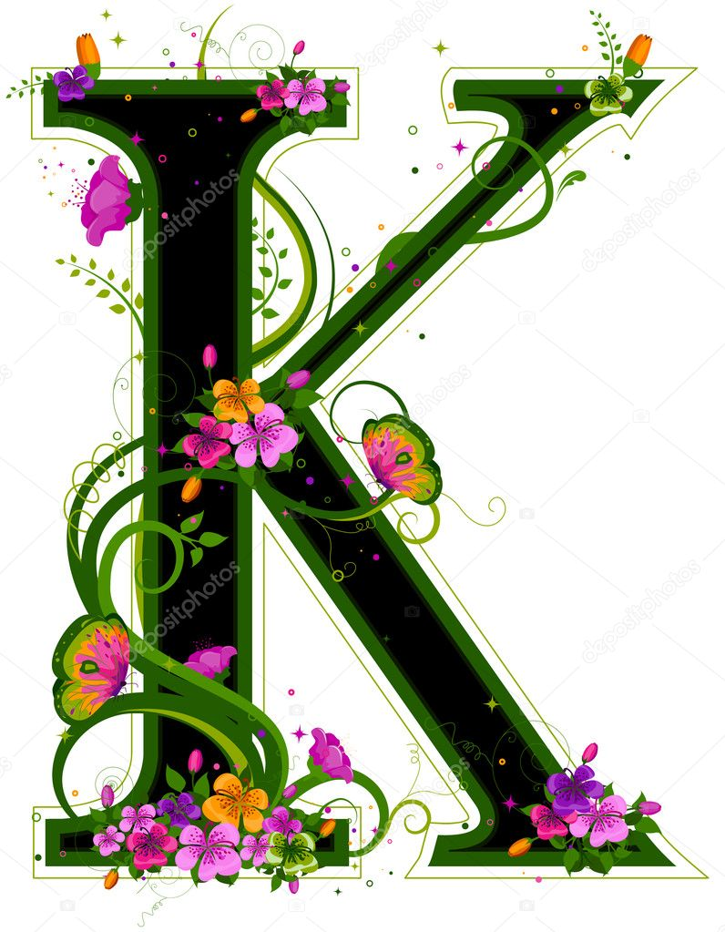 Floral Alphabet with Clipping Path — Stock Photo #7733834