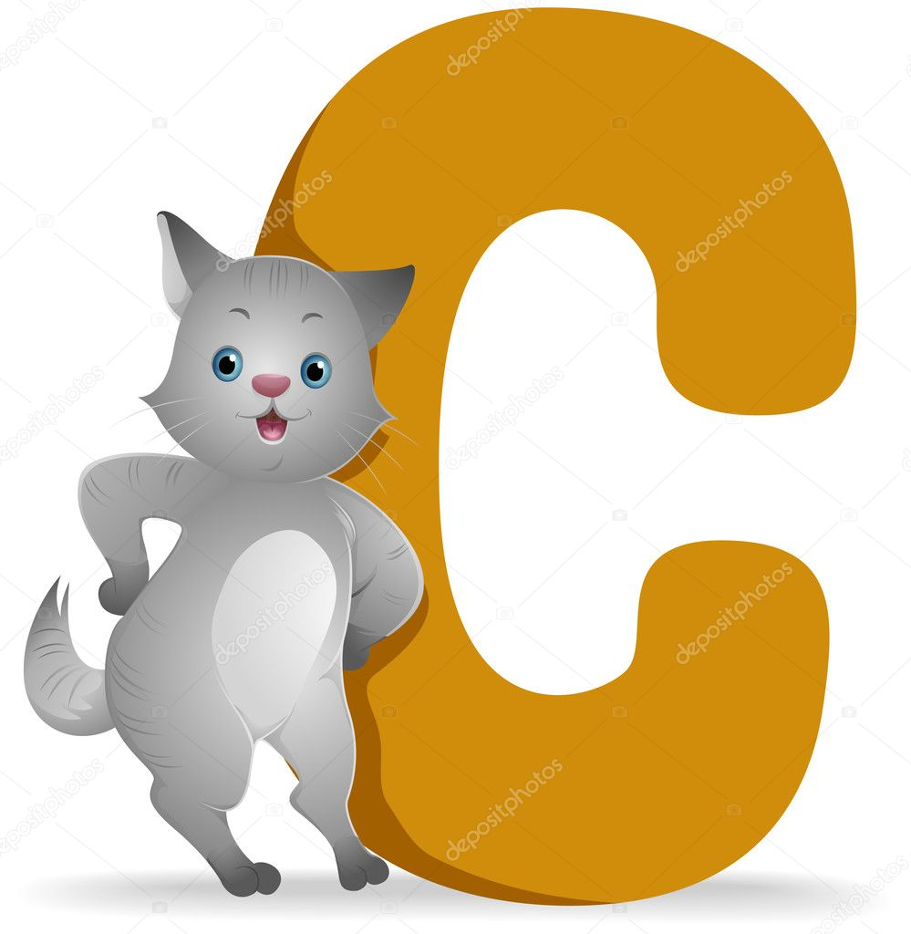 C for Cat with Clipping Path  Stock Photo #7735145