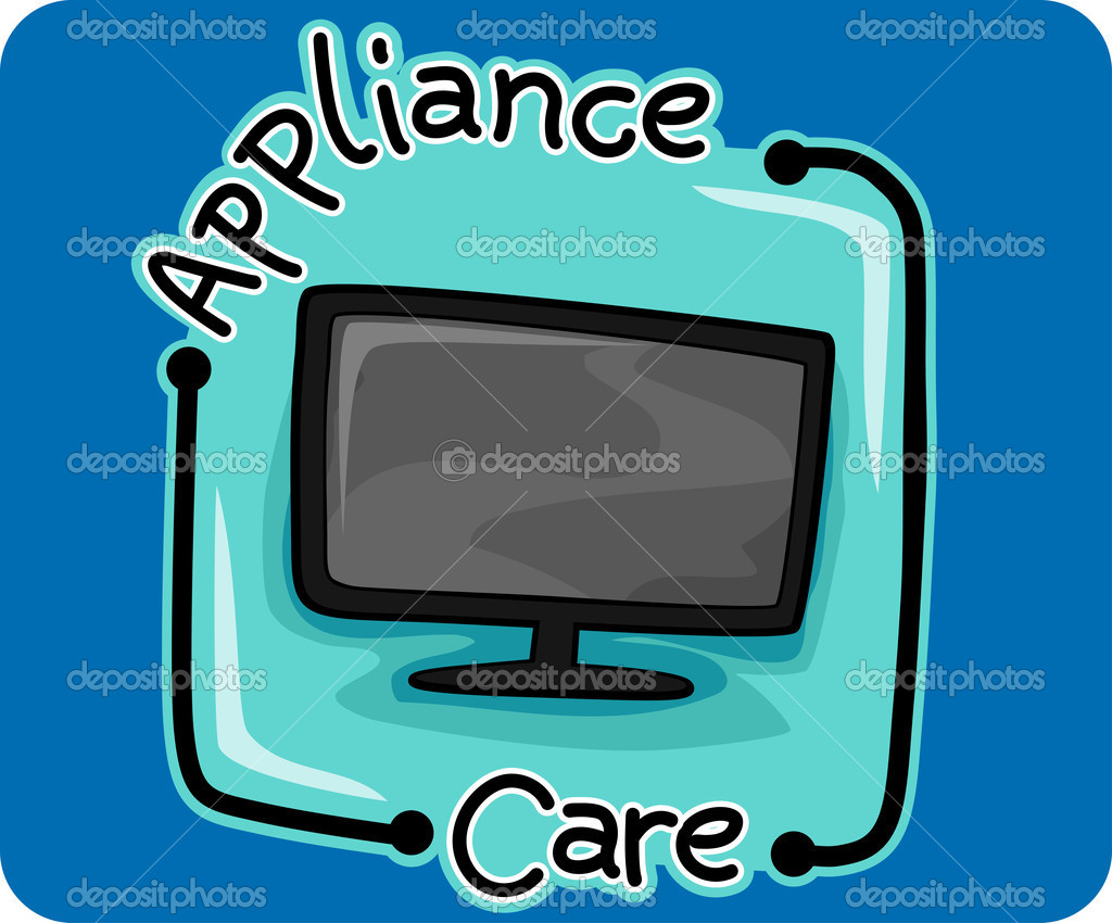 Icon Illustration Representing Appliance Care  Stock Photo #7735164