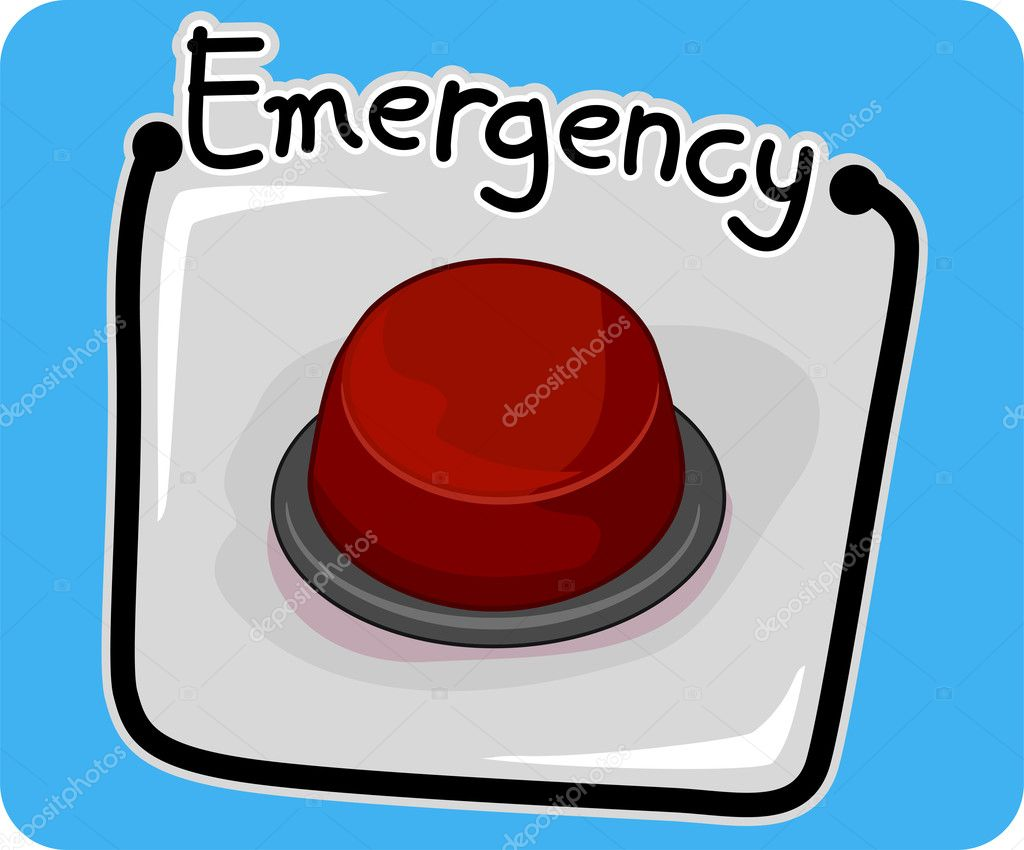 Icon Illustration Featuring an Emergency Button — Stock Photo #7735197