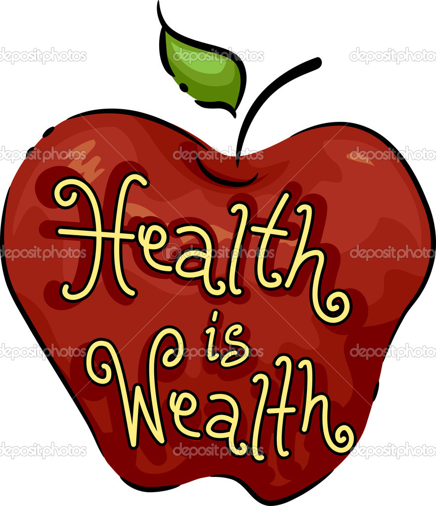 Icon Illustration Representing Health is Wealth — Stock Photo #7735215