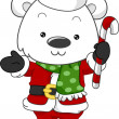 Polar Bear Santa — Foto de Stock