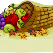 Royalty-Free Stock Photo: Cornucopia Basket
