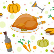 Thanksgiving Seamless Background — Stock Photo