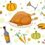 Thanksgiving Seamless Background — Stock Photo