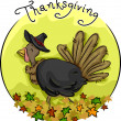 Thanksgiving Turkey Icon - Stock Photo