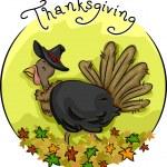 Thanksgiving Turkey Icon — Stock Photo