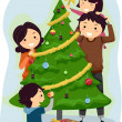 Family Christmas Tree — Stock Photo #7892610
