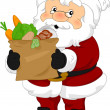 Stock Photo: SantClaus Groceries