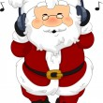 Santa Claus Headphones — Stock Photo #7892698