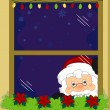 Stock Photo: Santa Taking a Peek