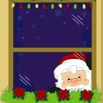 Santa Taking a Peek — Stock Photo #7892704