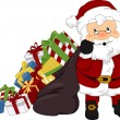 Santa Claus Christmas Presents — Foto de Stock