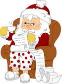 Santa Reviewing His List — Stock Photo