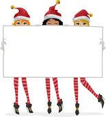 Santa Banner — Stock Photo