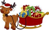 Reindeer Sleigh — Stock Photo