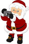 Santa Claus Camera — Stock Photo