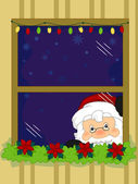 Santa Taking a Peek — Stock Photo