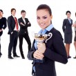 Winning businessteam — Stock Photo