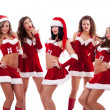 Group of santa women - Stock Photo
