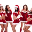 Stock Photo: Group of santa women
