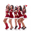 Inviting santa women — Stock Photo #7232205