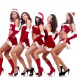 Sexy Santa women — Stock Photo