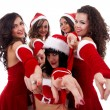 Sexy Santa women — Stock Photo #7232212