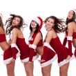 Young santa women — Stock Photo