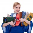 Woman with a purse collection — Stock Photo #7232354