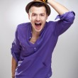Excited young guy — Stock Photo