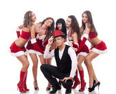 Lucky santa guy — Stock Photo