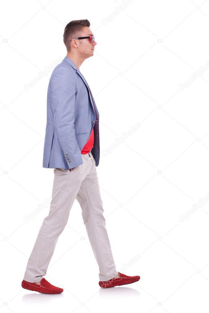 Man Walking Forward Fashion man walking forward