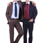 Two friendly business men — Stock Photo