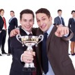 Foto Stock: Winning businessteam