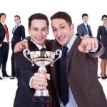 Winning businessteam — Stock Photo