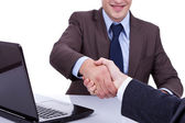 Conclusion of job interview — Stock Photo