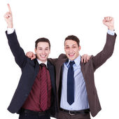 Winning businessmen — Stock Photo