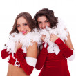 Santa women standing together — Stock Photo #7670096