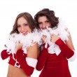 Santa women standing together — Stock Photo