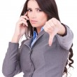 Business woman with thumb down — Stock Photo