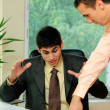 Foto de Stock  : Two businessmen at the office