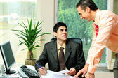 Two businessmen at the office — Stock Photo