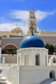 Santorini church Greece — Foto Stock