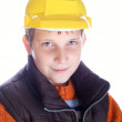 Young adorable child with helmet — Stock Photo
